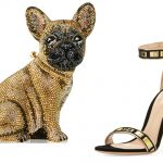 Judith Leiber Couture French-Bulldog-Crystal-Clutch-Bag and and Gianvito Rossi sandals