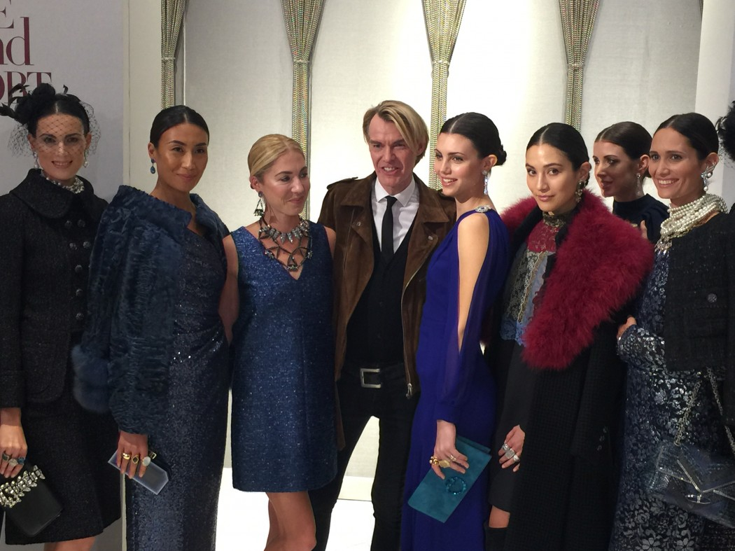 Ken Downing with models from his show